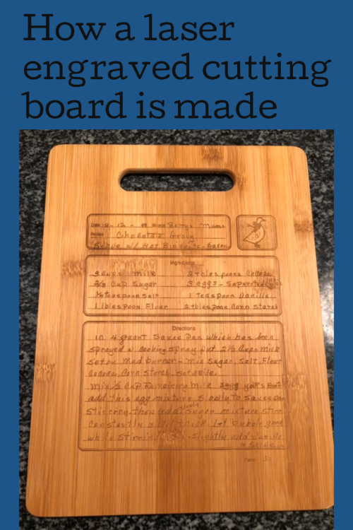 how a laser engraved cutting board is made